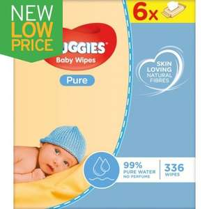 Huggies Pure Baby Wipes 6 Pack (6 x 56) £2.99 instore @ JTF instore