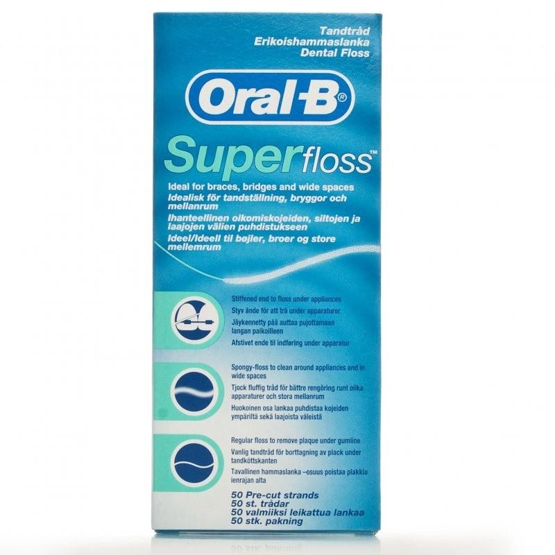 Oral B SuperFloss Super Dental Floss for Braces Bridges - £1.36 delivered TODAY ONLY @ ChemistDirect