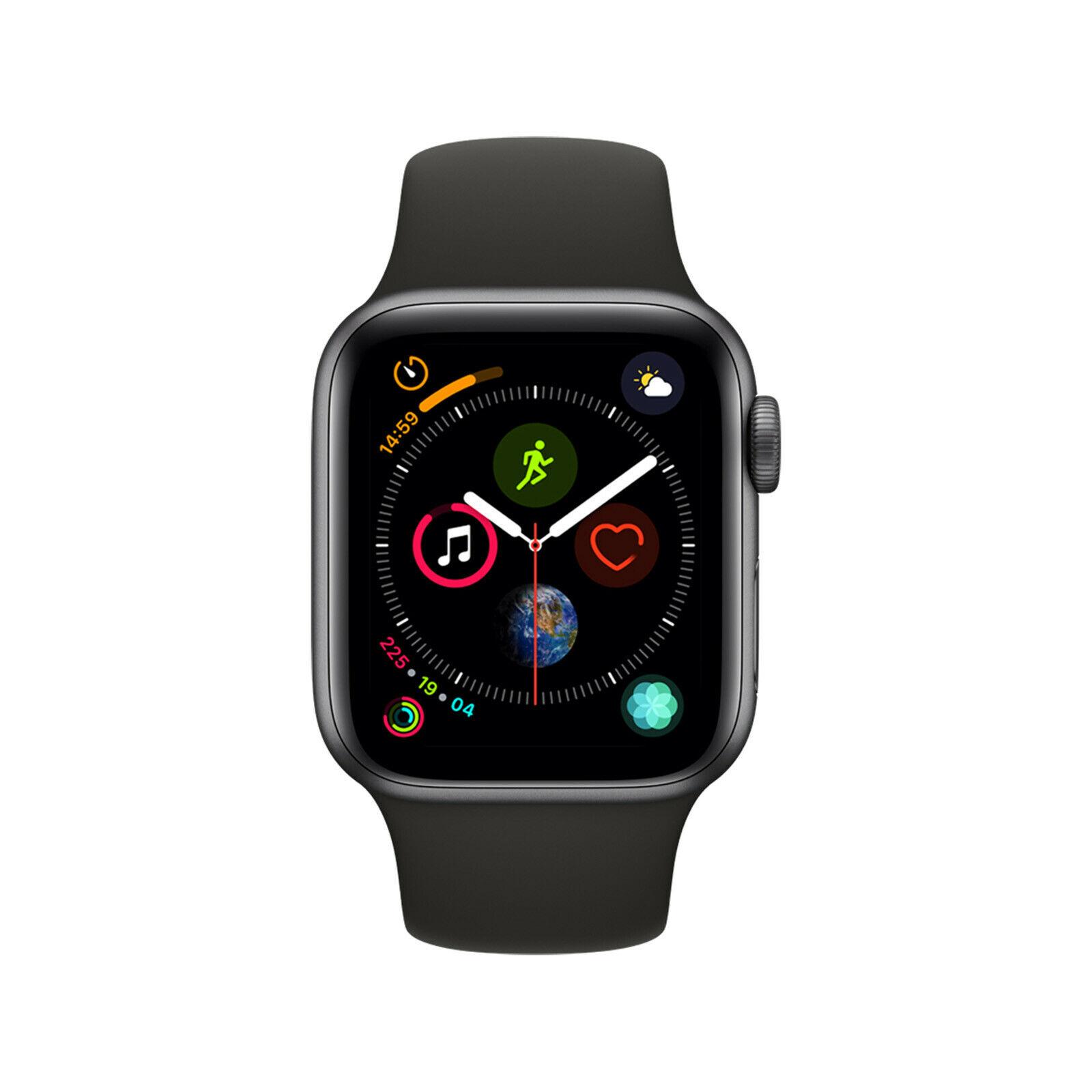Apple Watch Series 4 40mm Space Grey & Black Sport Band - MU662LL/A - NEW (USA charger but UK adapter) £275.95 at Hitechelectronicsuk eBay