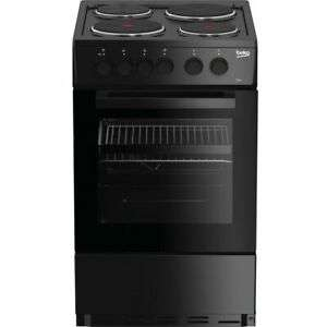 Beko AS530K Free Standing A Rated Electric Cooker with Solid Plate Hob 50cm Black £135.20 delivered with code @ AO eBay