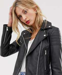 Women's Barney's Originals leather biker jacket £90 @ ASOS