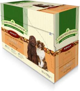 James Wellbeloved 10 x 150g pouches wet dog food adult, puppy and senior  + different varieties @ Amazon £5 + £4.49 delivery Non Prime