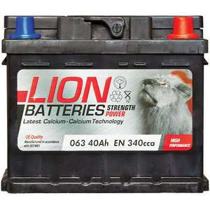 Lion Car Batteries From £27.03 with code on EBAY from Car parts 4 less