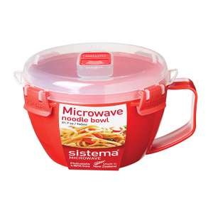 Sistema Microwave Noodle Bowl, Red, 940ml for £3.59 (Prime) / £8.08 (NP) delivered @ Amazon