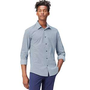 Medium only - Amazon Brand - find. Men's Slim Fit Printed Cotton Shirt now £6.60 (Prime) + £4.49 (non Prime) at Amazon