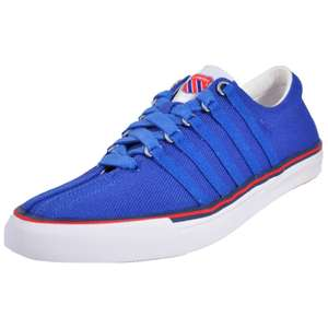 New K Swiss Classic Mens Heritage Retro Fashion Trainers Blue/Red/White (Sizes 6/6.5/7/8) £19.99 @ Express Trainers ebay