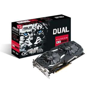 ASUS Radeon RX 580 Dual 4GB Graphics Card £134.99 at CCL Online (free game pass)