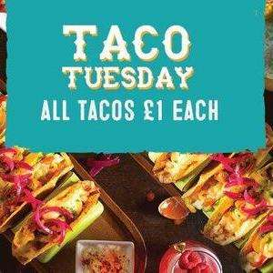 Taco Tuesday at Chiquito's - any taco is £1