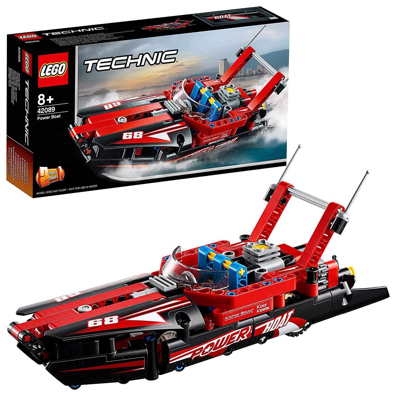 LEGO 42089 Power Boat Replica Building Set, 2 in 1 Model, Hydroplane SpeedBoat £10.00 Prime / £14.49 non prime @ Amazon