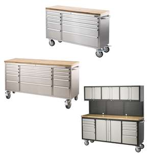 Large Tool Trolleys from £400 - £780 + Free delivery - EG: Ultimate 56in 10 Drawer Tool Trolley £400 Delivered @ Homebase
