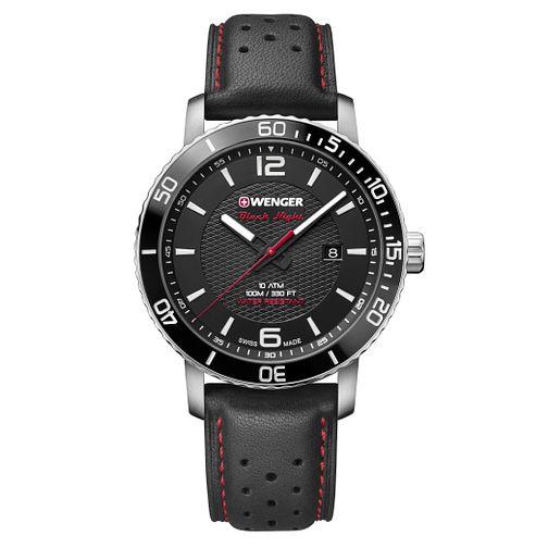 Wenger Roadster Black Night Men's Black Leather Strap Watch £64 @ H. Samuel
