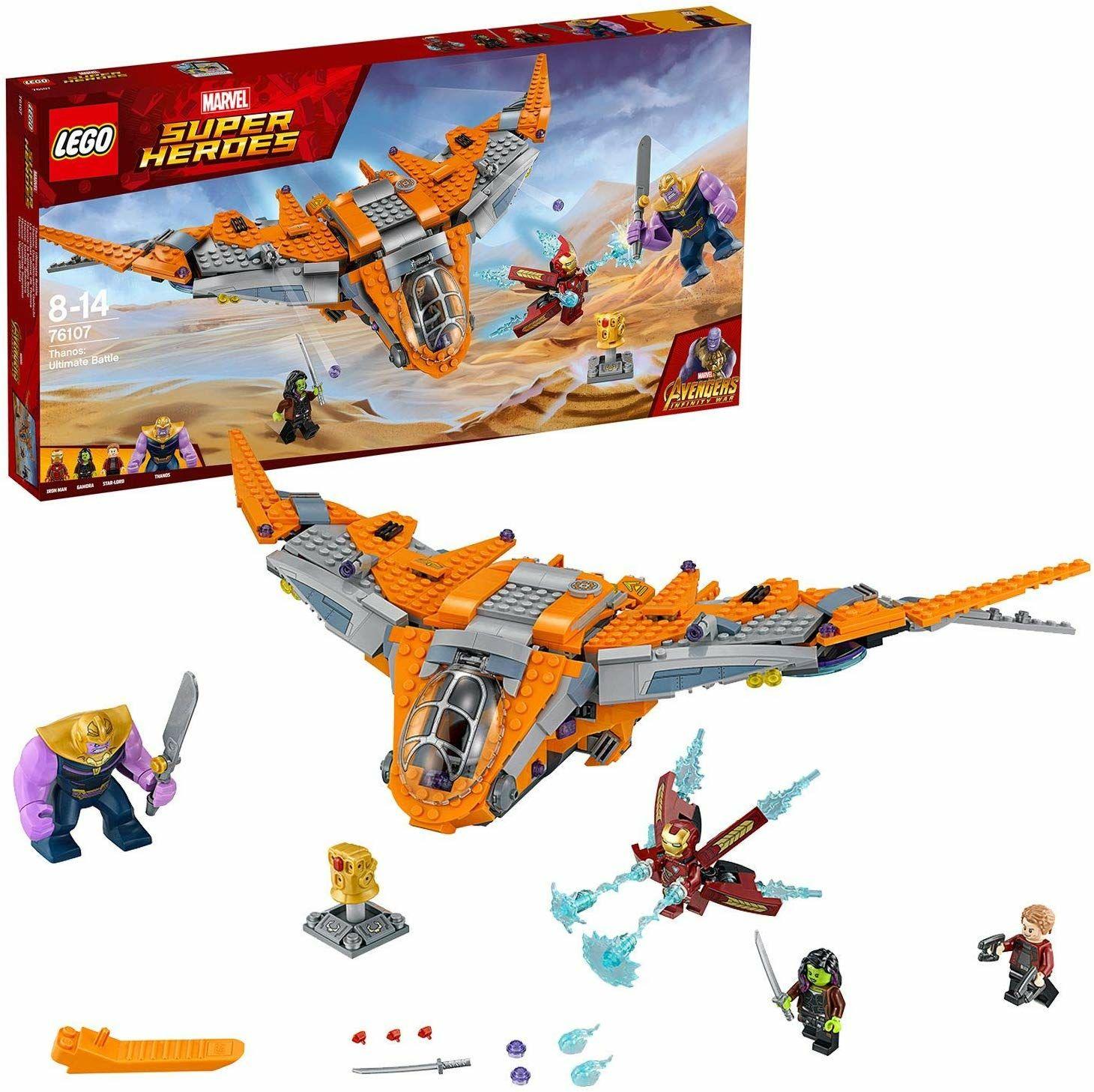 LEGO 76107 Marvel Avengers Thanos Ultimate Battle, Guardian's Ship, Iron Man, Star-Lord, Gamora, Thanos Action Figures - £45.99 @ Amazon
