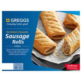 Gregg's Sausage rolls 4 pack, 2 for £2.60 @ Iceland