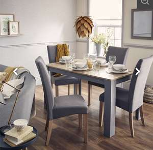 Ashton Dining Table and 4 Chairs - £149.00 @ Homebase