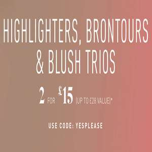 Highlighters, Brontours a Blush Trios 2 for £15 at Morphe