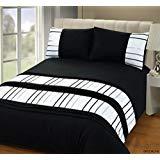 Rapport Brooklyn Duvet Set Double-Black Polyester-Cotton @ Amazon £6.53 Prime / £11.02 Non Prime