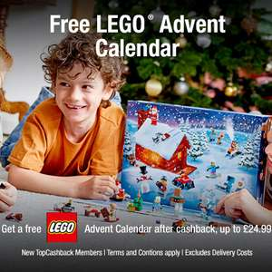 Free Lego Harry Potter, Friends or Lego City Advent Calendar through TopCashback [New Members] - £28.94 before cashback