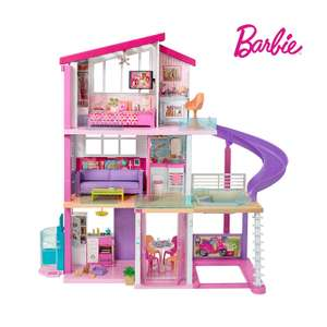 Barbie Estate Dreamhouse Adventures Large Three-Story Dolls House, Pink with Transforming Accessories Included Playset £170.99 at Amazon