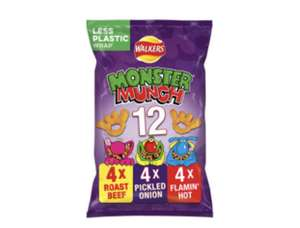 Walkers Monster Munch Variety 12 Pack - £1.50 @ Asda