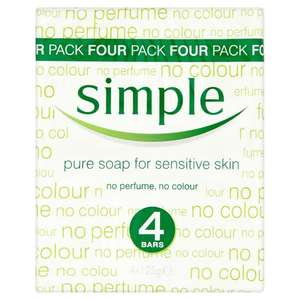 Tesco - Simple Pure Soap 4X125g - £1.25 was £2.50