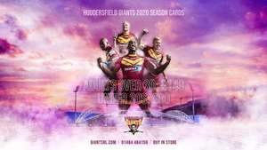 Huddersfield Giants (Rugby) season tickets reduced for under 30's - Now £80 for 2020 season