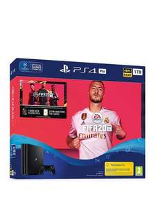 PS4 Pro 1Tb with FIFA 20 £319.99 @ Very (£288 with 10% credit back)