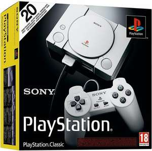 Sony PlayStation Classic Console (20 Games Pre-Installed, 2 Controllers) £29.99 @  SimplyGames