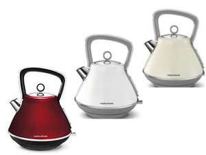 Morphy Richards 100108 Evoke Pyramid Kettle - Red, White or Cream for £29.99 @ Argos (+2 yrs guarantee)