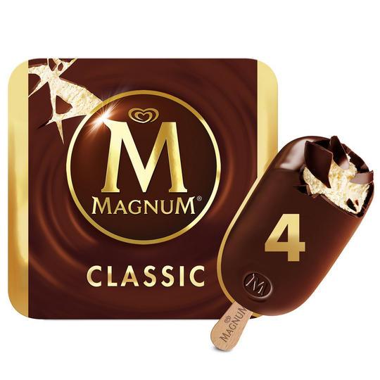 Magnum Classic / White Ice Cream Sticks 4 x 110ml £1.50 @ Iceland