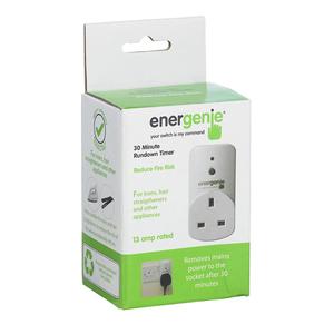 Energenie 30 Minute Run Down Timer Plug - £3 instore at Hombase.