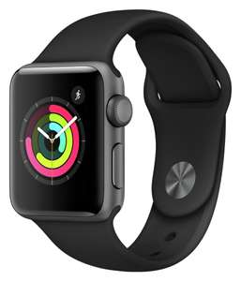 Apple Watch S3 2018 GPS 38mm-Space Grey Alu/Black Sport Band £199 Argos