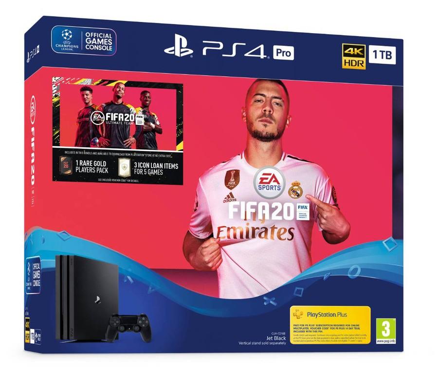 Playstation 4 Pro and Fifa 20 £314.85 ShopTo