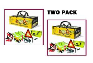 2 X AA Car/Van 8 Piece Breakdown/Roadside Vehicle Car Safety Road Emergency Kit for £23.62 With Code Delivered, Sold By xsitems_ltd @ Ebay