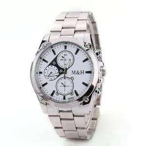 Casual Men's Dress watch with alloy band - choice of black dial or white £4.99 plus £1.99 shipping at groupon