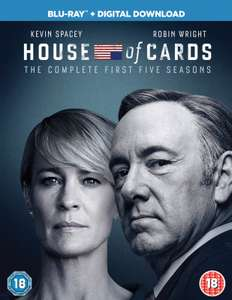 House of Cards Seasons 1-5 Blu-Ray Boxset (Red-Tag) £19.09 / £17.18 with code @ Zoom