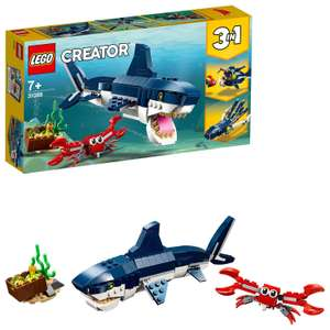 LEGO 31088 Creator 3in1 Deep Sea Creatures Shark, Crab and Squid or Angler Fish £8.50 at Amazon Prime / £12.99 Non Prime