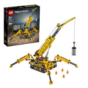 LEGO 42097 Technic Compact Crawler Crane and Tower Crane, 2 in 1 Spiderlike Model, Construction Set £53 at Amazon