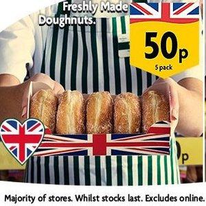 Morrisons 5 pack Jam / Custard / Apple doughnuts £0.50 in store @ Morrisons