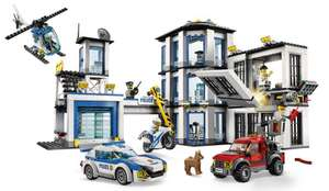 LEGO 60141 City Police Police Station Building Set, with Helicopter Toy, Car and Motorbike, Jail Break and Chase Toys £43 Amazon