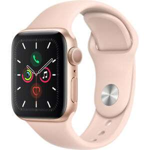Apple Watch Series 5 40 mm GPS 2019 Gold Aluminium Case - £339 using code @ AO / eBay