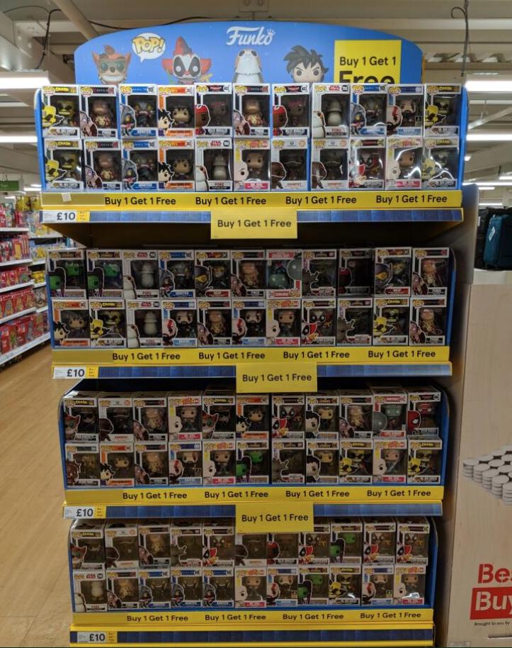 Funko Pop Figures buy 1 get one free £10 @ Banbury Tesco Extra