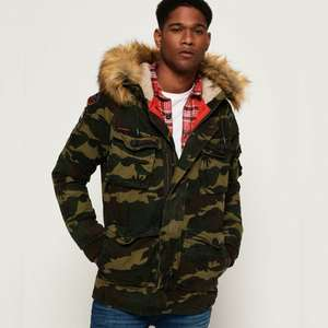 New Mens Superdry Rookie Heavy Weather Parka Jacket Trad Camo £24.95 at Superdry eBay