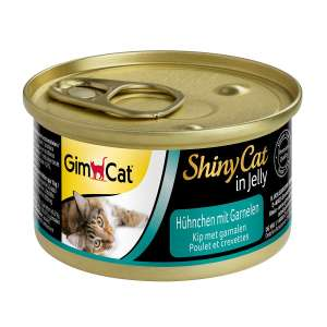 GimCat ShinyCat in Jelly / Cat food with poultry in jelly / Chicken with Shrimp / 24 cans (24 x 70 g) £4.58 at Amazon Prime/£9.07 Non Prime