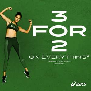 3 for 2 on Everything - Incl. Trainers, Clothing, Bags & Accessories + 10% Off for New Customers + Free Delivery & Returns @ ASICS outlet