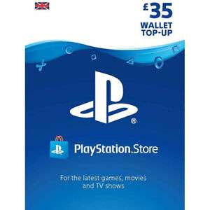 PlayStation Network Live Card £35 for £28 / £25 for £20 with code @ AO eBay