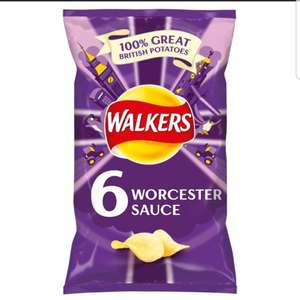 6 Pack of Walkers Worcester Sauce Crisps only 79p in store at Heron