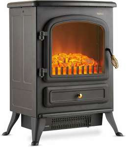 VonHaus Electric Stove Heater with Log Burner Flame Effect – 1850W, Black - £54.99 @ Amazon / Dispatched from and sold by DOMU UK.