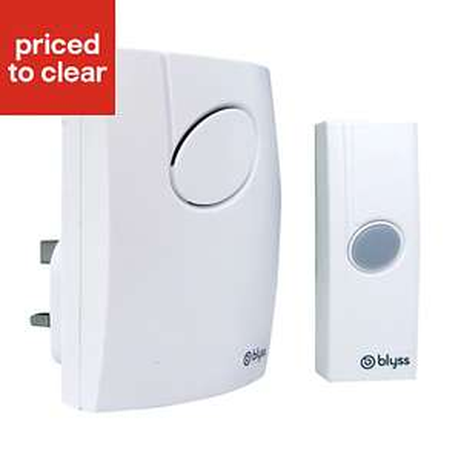 Blyss White Wireless Plug in Door chime kit B805 £6 @ B&Q