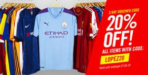 20% off all items at Subside Sports