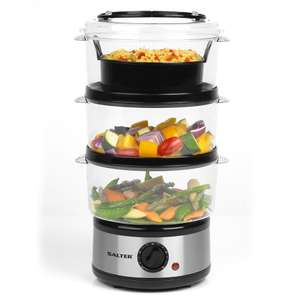 Robert Dyas- Salter EK2726 7.5L Healthy Cooking 3-Tier Food Rice Meat Vegetable Steamer £16.99 (Free Click & Collect)
